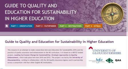 New website: The Guide to Quality and Education for Sustainability in Higher Education