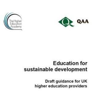Online consultation on QAA/HEA draft guidance on ESD for UK higher education open until 3 January 2014
