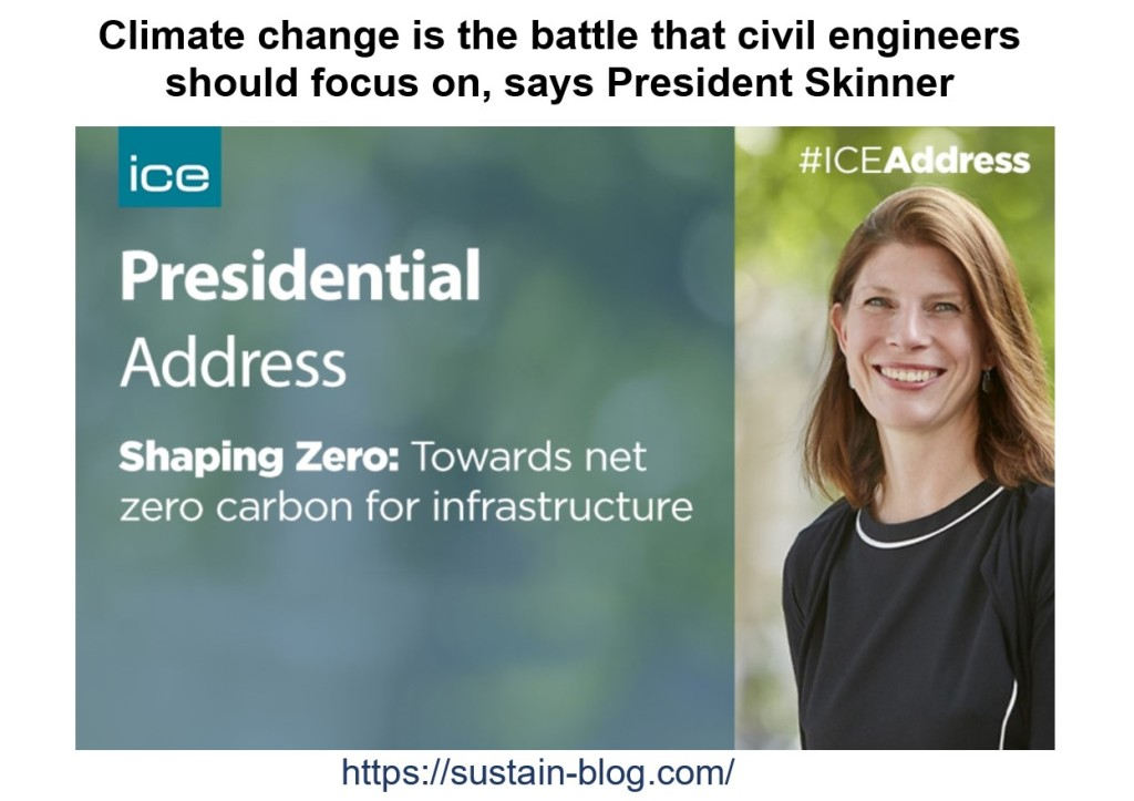 Rachel Skinner delivered online the 156th Presidential Address of the Institution of Civil Engineers UK on 3 November 2020.